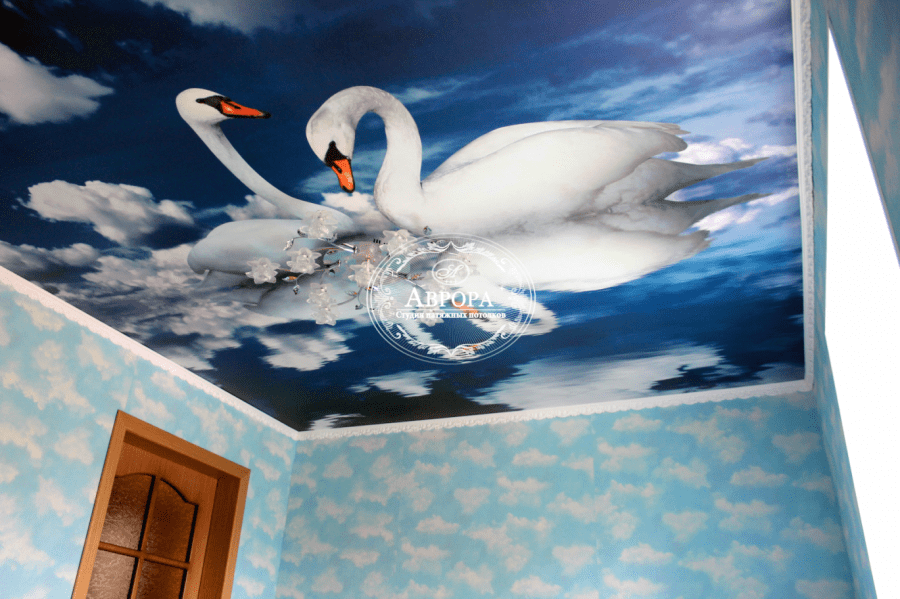картинки на натяжной потолок фотопечать в спальню содержит себе